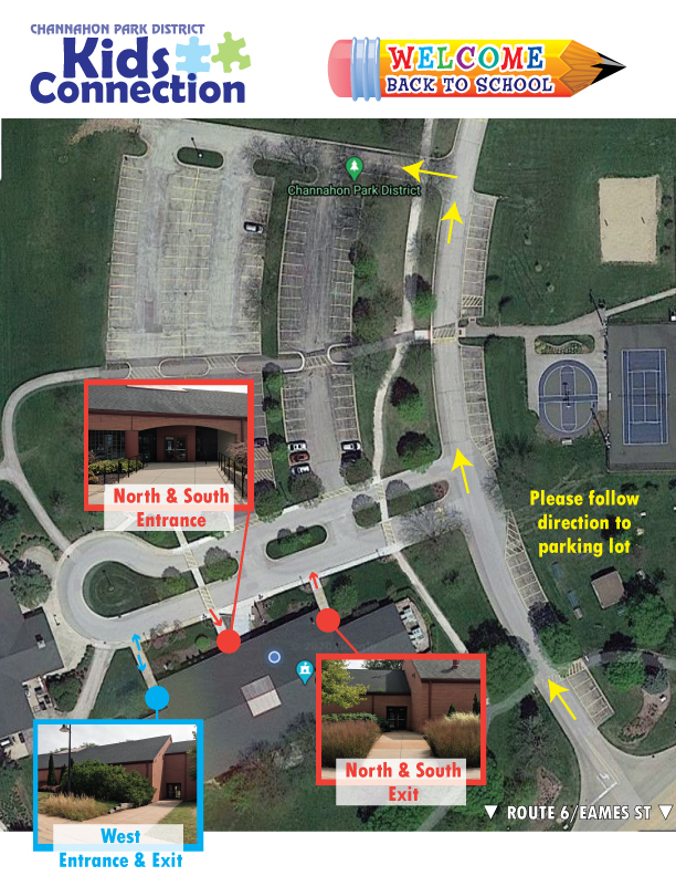 Kids Connection Drop off map